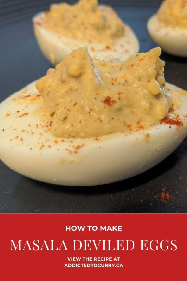 Masala Deviled Eggs