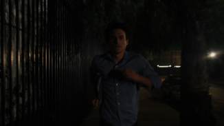 Connor Running to Save April