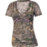 Realtree Outfitters Womens Spruce Short-Sleeve Deer Graphic Tee