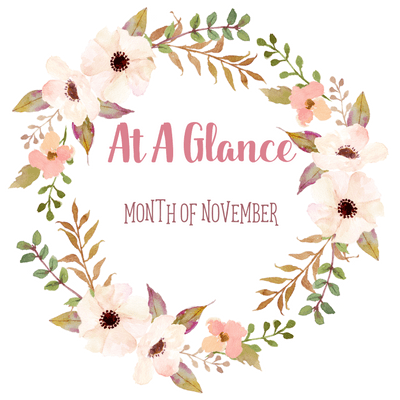 At A Glance: Month of November 2017