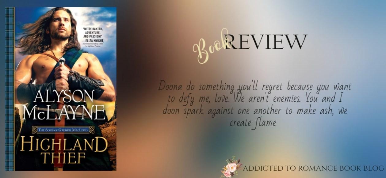 ARC Book Review-Highland Thief by Alyson McLayne