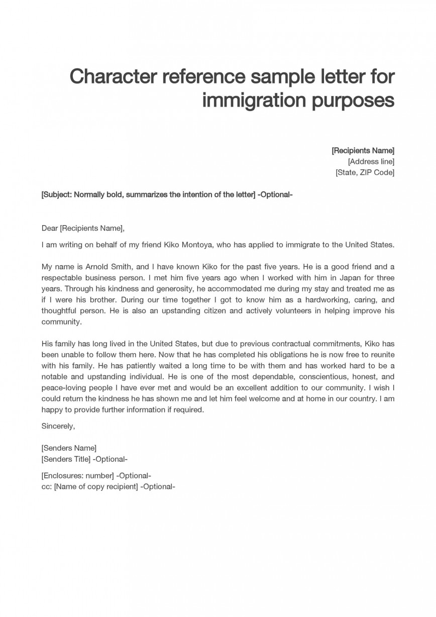 Character Reference Letter For Immigration : character, reference, letter, immigration, Character, Reference, Letter, Immigration, Template, Addictionary