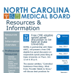 Governor's Institute Partners with NC Medical Board to Offer LIVE Opioid Training Across the State