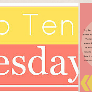Top Ten Tuesday (70) Themes I Love