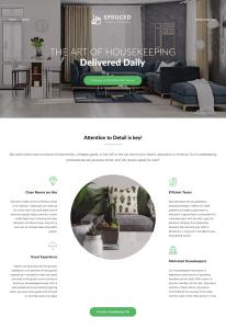 spruced - maid service website - wordpress website design services