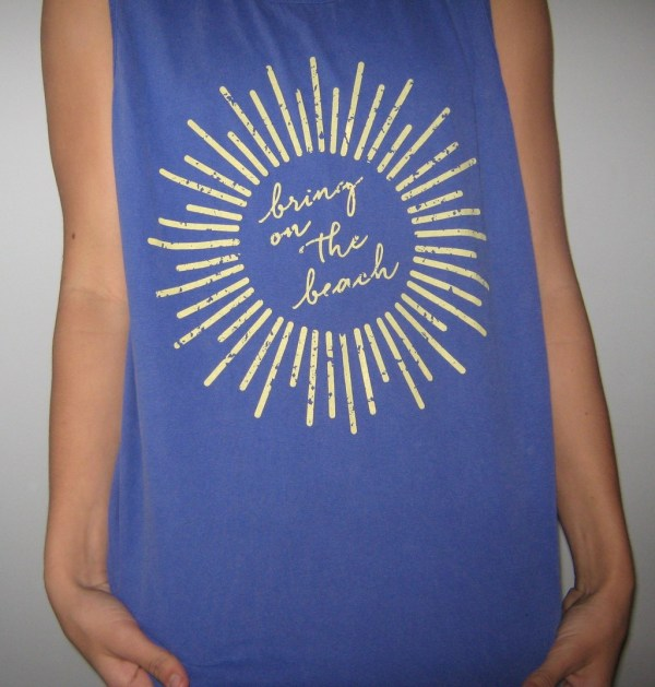 southern goods bring on the beach tank