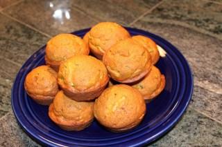 Pumpkin Zucchini Muffins at Love at 350 Degrees
