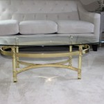 DIY: Brass Coffee Table Makeover