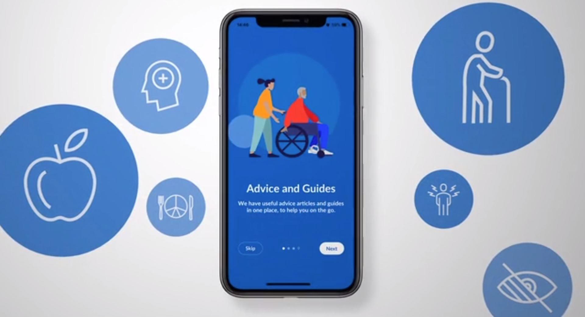 Screenshot of the NHS Carer app