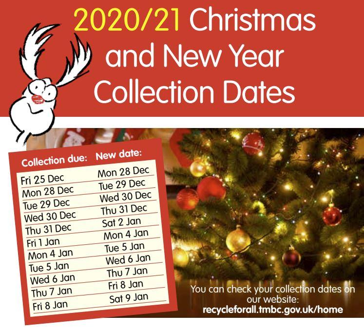 Christmas waste calendar