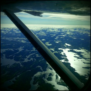 Somewhere over northern Ontario