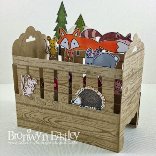 Card in a Box - Hardwood Baby Crib