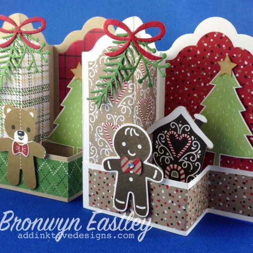 Teddy and Gingerbread Man Labels Z-Fold