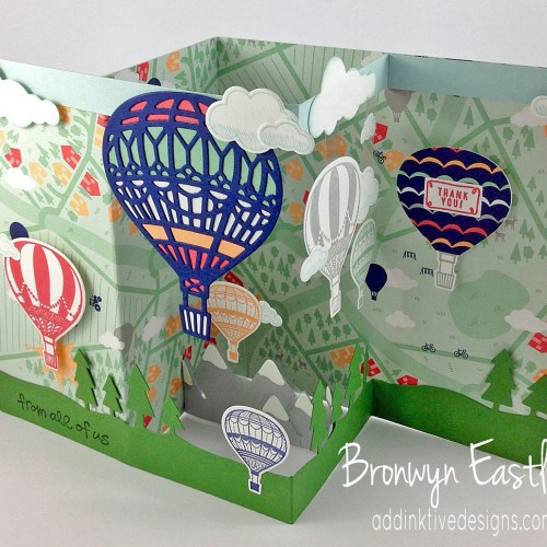 Lift Me Up, Pop-Up, Double Z-Fold Box Card