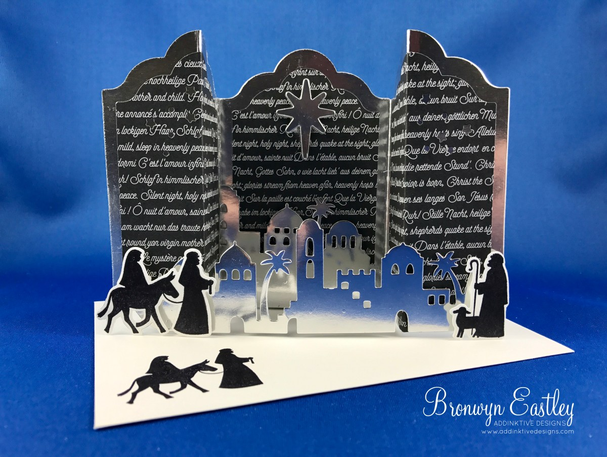 Night in Bethlehem, Lots of Labels, Bridge Fold Card Tutorial