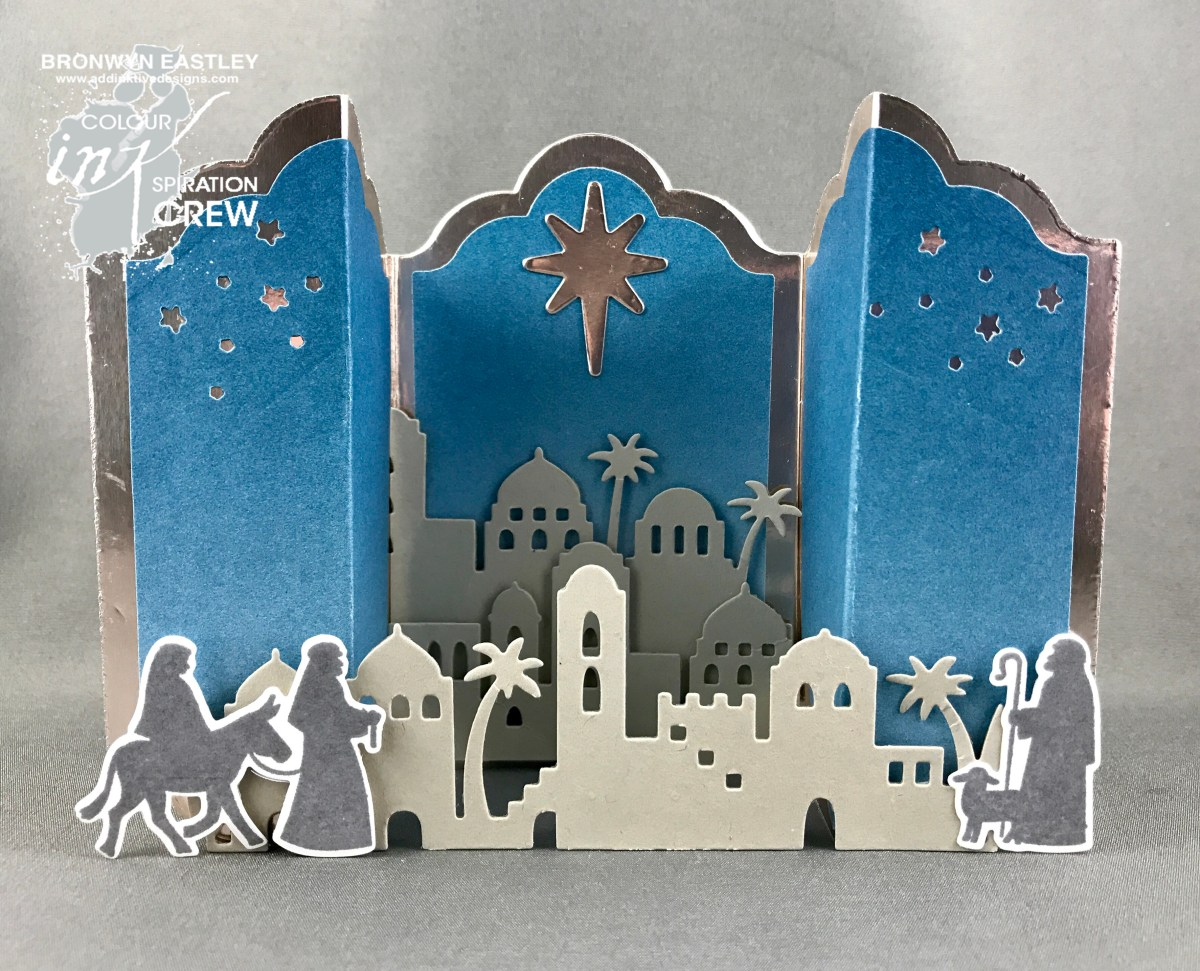 Night in Bethlehem, Lots of Labels, Bridge Fold Card for Colour INKspiration #16