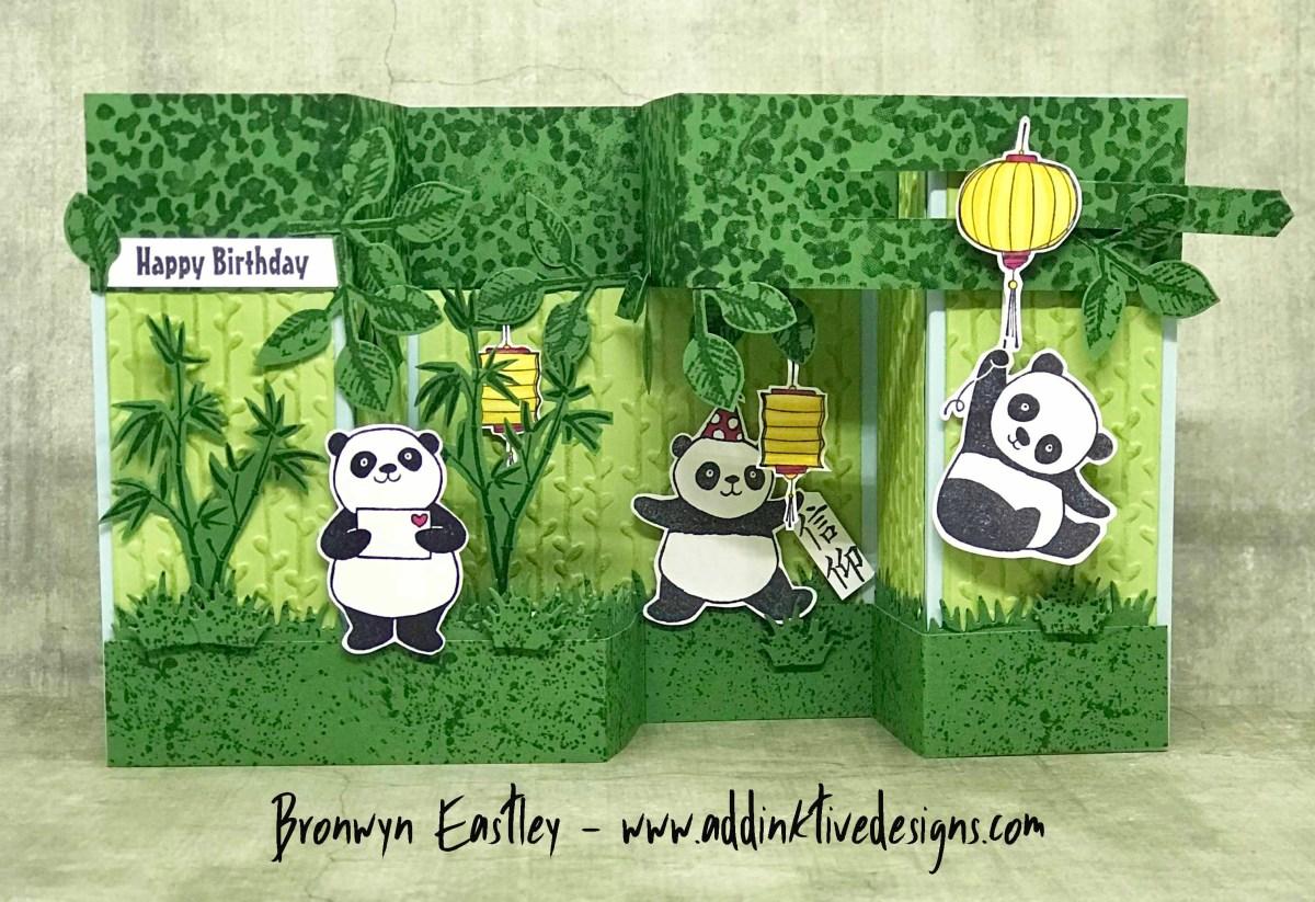 Party Pandas, Double Pop-Up, Gate Fold, Box Card Tutorial