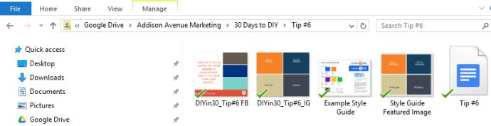 Folder Structure for DIYin30