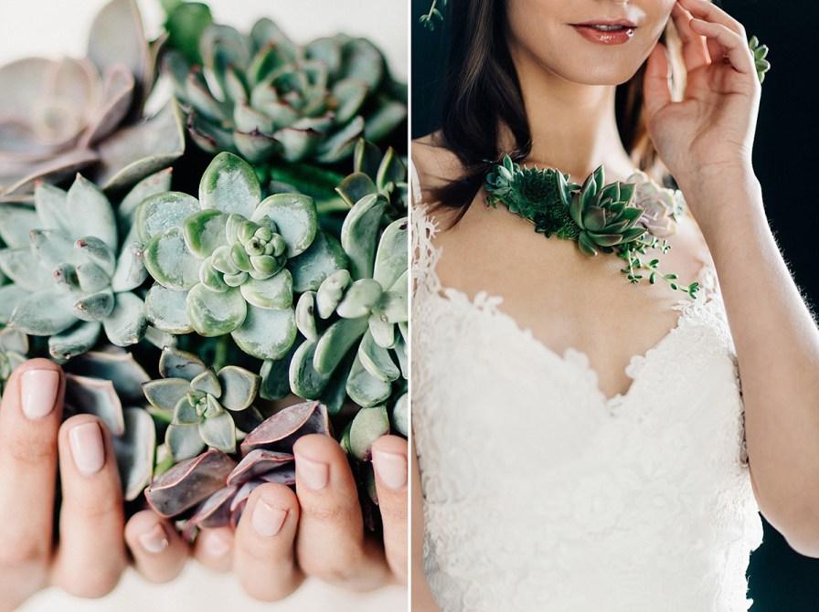 live succulent jewelry line