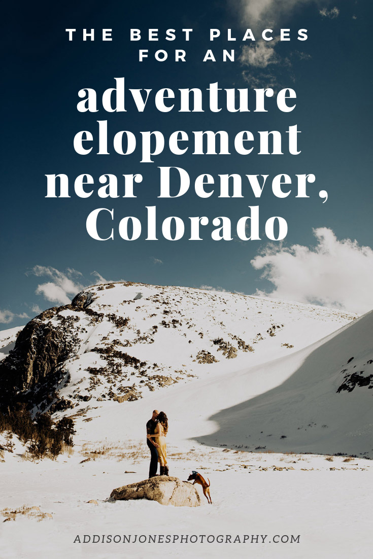 adventure elopements near Denver, Colorado