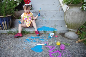 Chalk paint fun...and mess