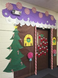 Gingerbread House Classroom Door - Addison's Wonderland