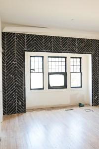 shiplap-ceiling-beams-black-ceiling-gray-walls-black ...