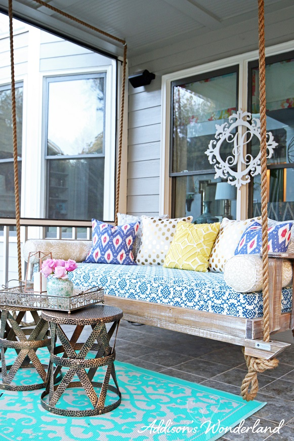 Our New Outdoor Porch Swing  Addisons Wonderland