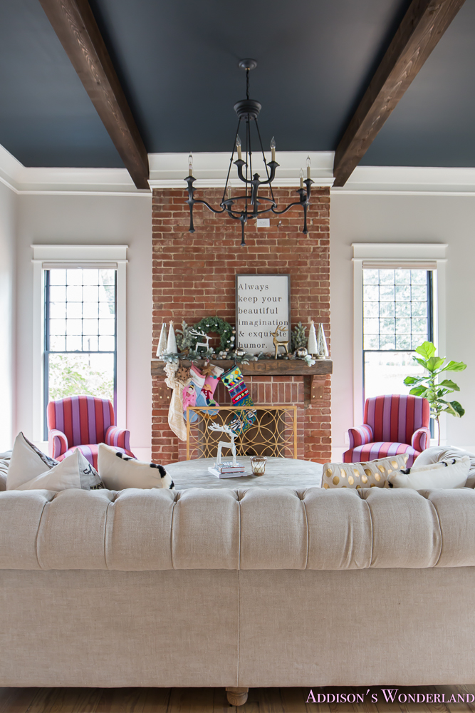 Our New Mantle  Living Room Tour  Addisons Wonderland