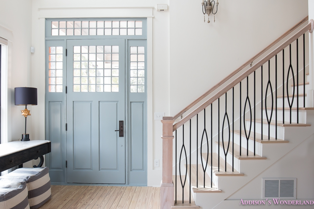 Staircase Balusters To Heaven Addison S Wonderland   Grey And White Banister   Green White   Staircase   Gray Stained   Fixed Wall Painted   Light Grey Grey