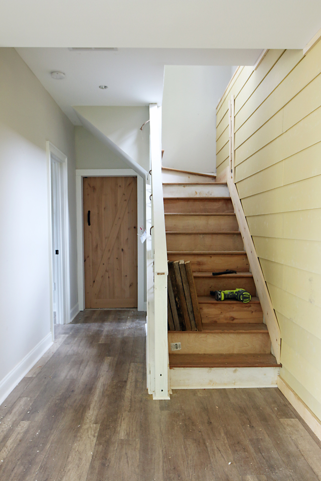 How To Shiplap Wall  Open Pipe Shelving  Addisons