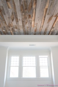 Our Reclaimed Weathered Wood Stikwood Ceiling! - Addison's ...