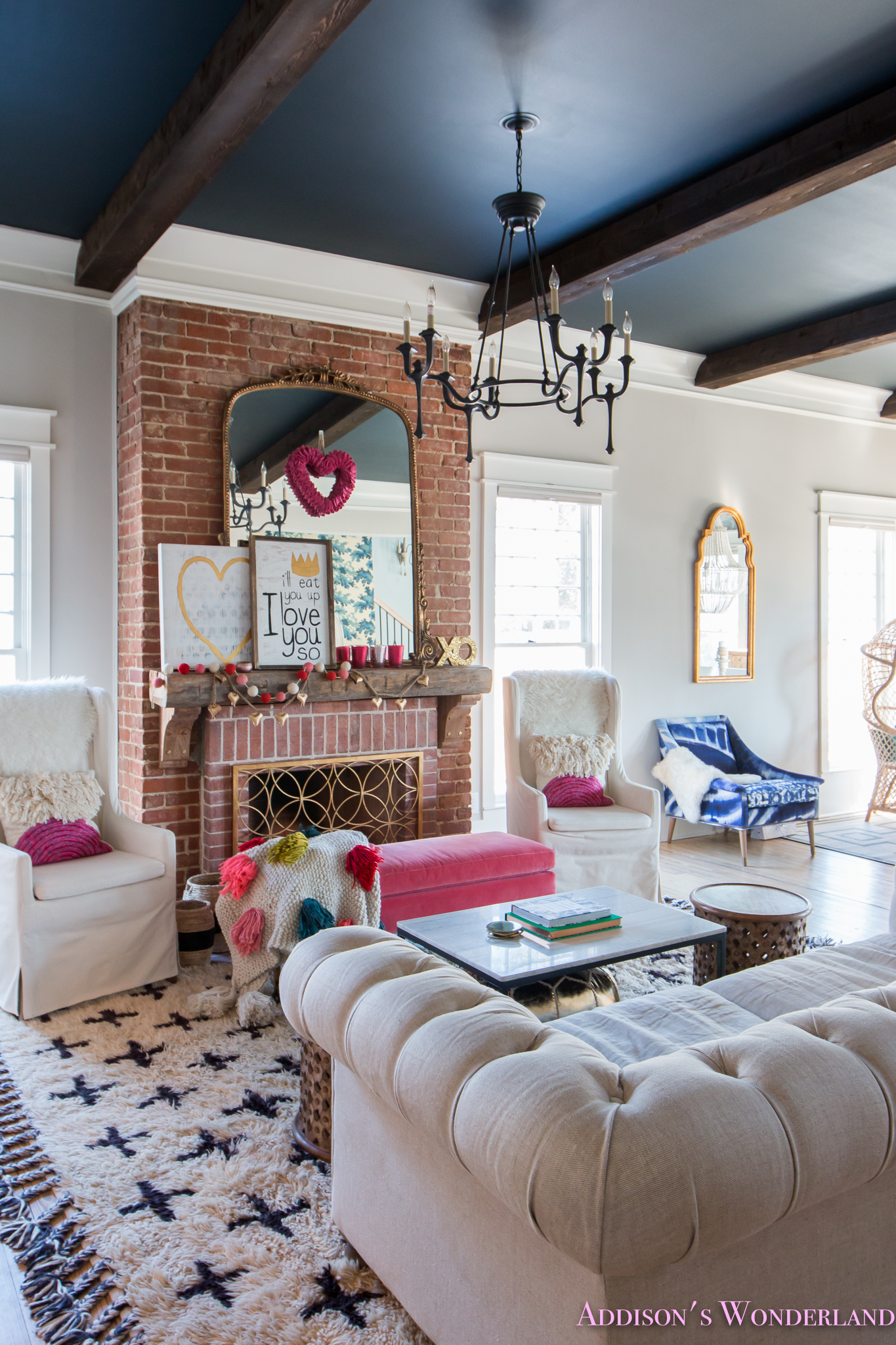 Our Colorful Whimsical  Elegant Valentines Day Living