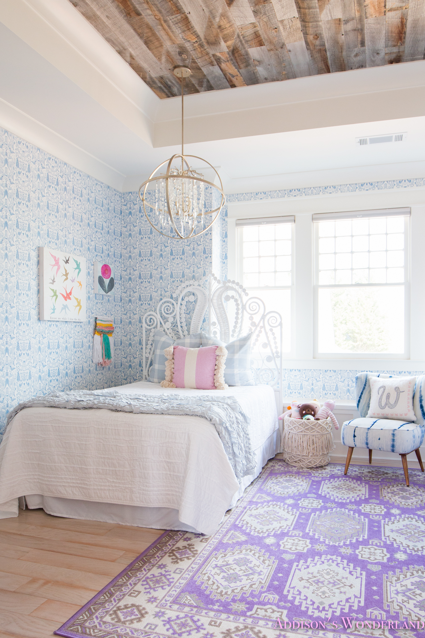 My Sweet Winnies Blue and White Little Girls Bedroom