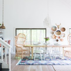 Dining Wingback Chairs Toddler Upholstered Chair Our Aztec Country Chic All White Cabin Room Reveal...