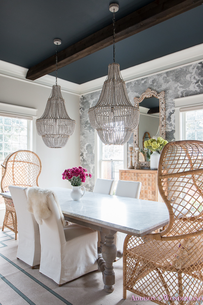 Our Elegant And Fun Vintage Boho Dining Room Reveal