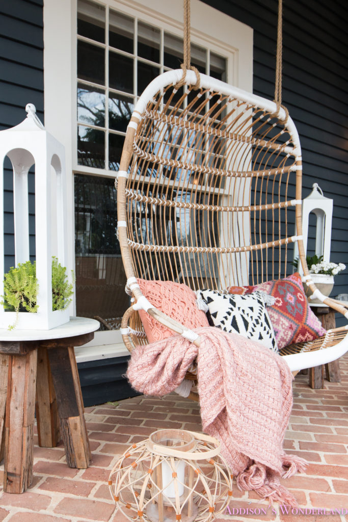Our Fun  Colorful Bohemian Spring Porch Update Reveal