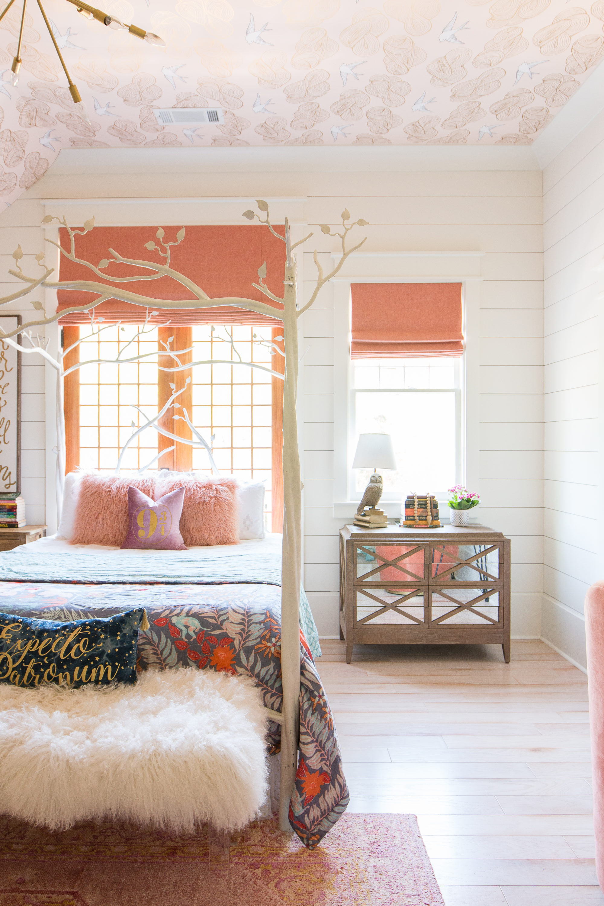 Wallpaper For Little Girl Room An Update On Addison S Peachy Pink Tween Bedroom Amp Toy