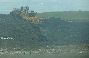 Sendafa-Landfill-A-truck-was-pushing-the-pile-of-trash-