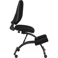 Ergonomic Chair Kneeling Posture X Rocker Pulse Gaming Cables Flash Furniture Wl 1428 Gg Mobile In Black Fabric With Back