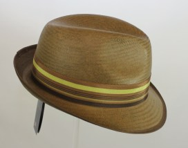John Coloured Straw Trilby from Olney Colour Mocha