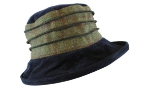 Peak & Brim -Jade Tweed Colour Navy