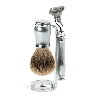 Edwin Jagger Chatsworth 3 Piece Shaving Set Barley Cut Mach3