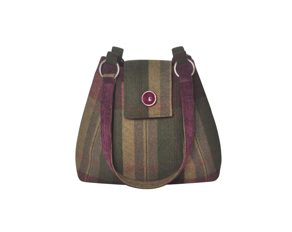 Grape Ava Tweed Handbag from Earth Squared