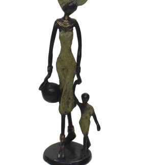 Haoua Medium Standing Bronze Sculpture