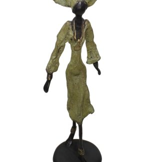 Raissa Tall Standing Bronze Sculpture