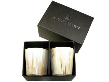 Abbeyhorn Oxhorn Whisky Tots in Presentation Box