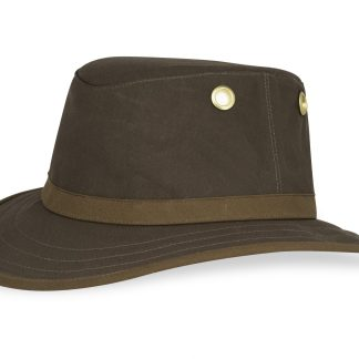 Side profile of outback hat