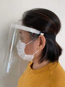 PPE Face Shield Covered