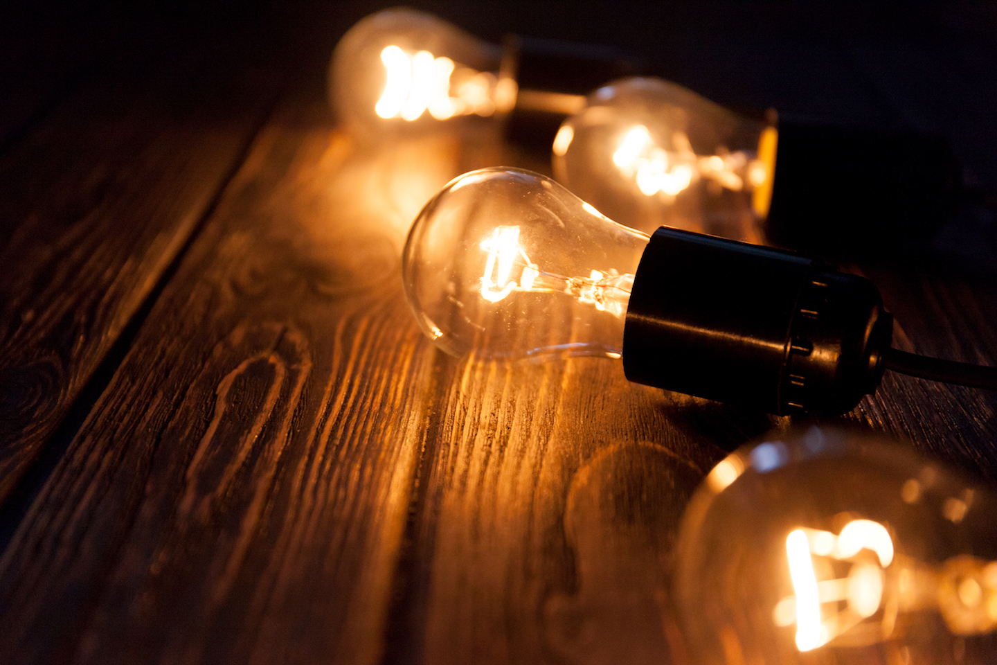Lightbulbs consume a certain amount of power, according to the formula P=VI